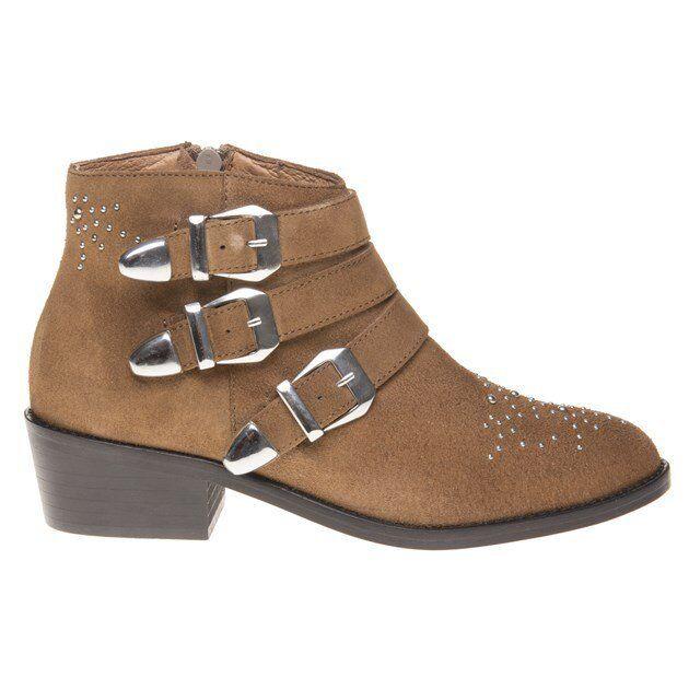 New Damenschuhe SOLE Tan Ankle Averil Suede Stiefel Ankle Tan Zip 387d62
