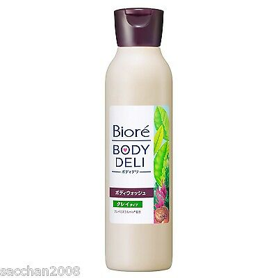 Kao Biore Body Deli Body Wash Clay Type Green Tea&Herb Fragrance 320g from Japan