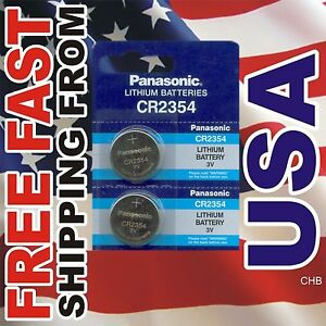 2 Panasonic Cr2354 3v Batteries Cr 2354 New 3v Lithium