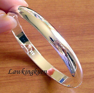 Nice 925 Sterling Silver Plain Band Bracelet Bangle