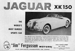 "1960 Jaguar XK-150 ""World's Most Famous Sports Car"" Original Ad"