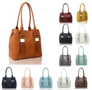 New-Ladies-Women-039-s-Fashion-Large-Faux-Leather-Hobo-Shopper-Shoulder-Bag-Handbag