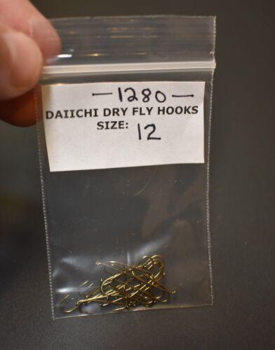 Daiichi 1280 Taille 12 2XL long dry fly tying Pêche Crochets Pack de 25