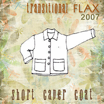 Transitional FLAX 2007 Linen CAPER COAT- 1G or 2G - NEW