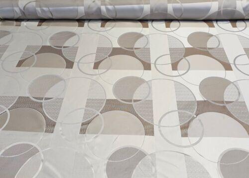 Jacquard Möbelstoff Gardinen Stoff Dekostoff Doppelseitig Meterware Grau-Beige
