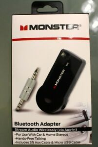 MONSTER-Wireless-Bluetooth-Adapter-Stream-Audio-Hands-Free-Brand-New