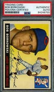 Bob-Borkowski-PSA-DNA-Coa-Autograph-1955-Topps-Hand-Signed