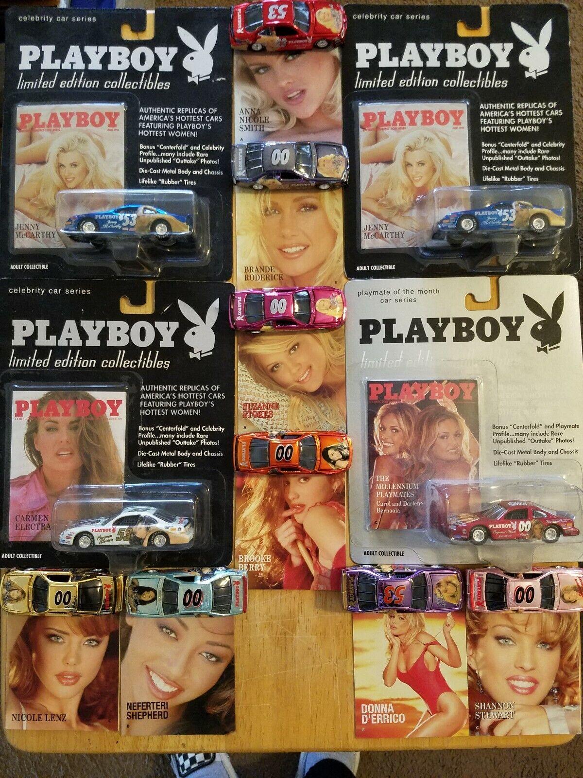 Lot de 12 Playboy NASCAR Cars Jenny McCarthy femmes d'errico January Electra