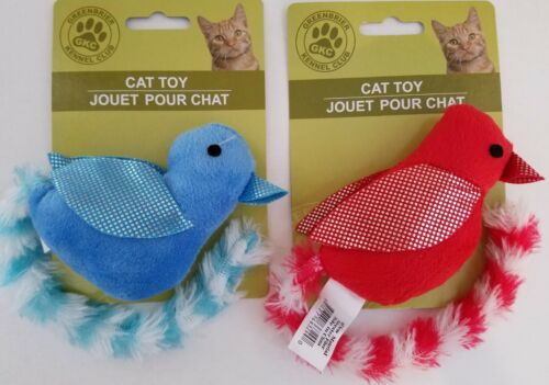 Rattles /& Long Tails Plush Kitten Cat Toys Birds with Reflective Wings