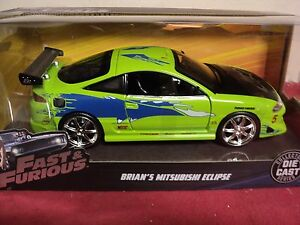 Mitsubishi Eclipse 2016 >> Details About Jada Brians Mitsubishi Eclipse New In Box 2016 1 24 Scale Fast Furious