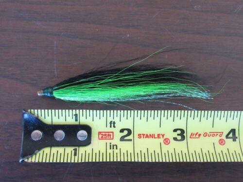4 Bucktail Teasers Cristal Flash Buck Tail Teaser Fluke Sea Bass Rig Fly grblk