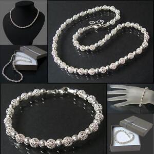 Das Bild wird geladen Armband-Collier-Kette-925-Silber-Armkette -Perlen-Sterlingsilber- bc624a703f