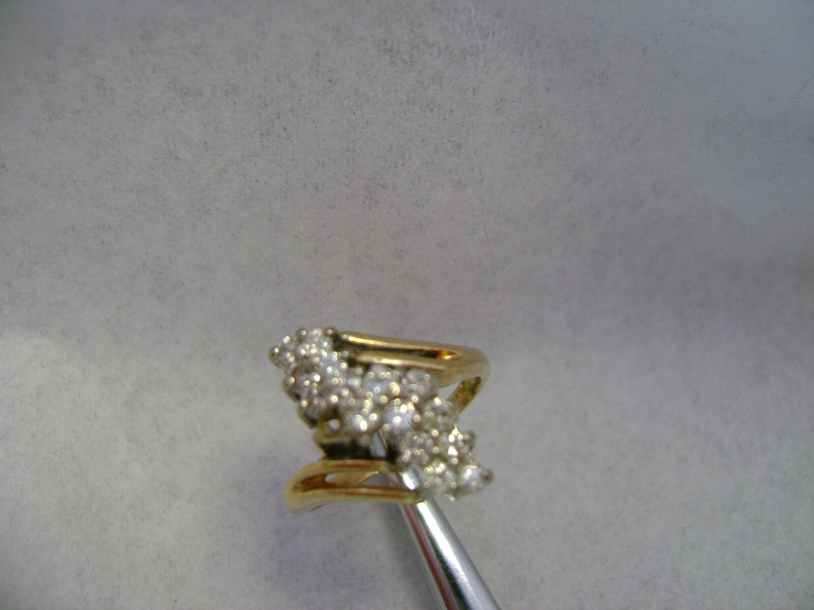 14k Diamond cluster ring project needs some work si clarity 1 2 ct total 2mm
