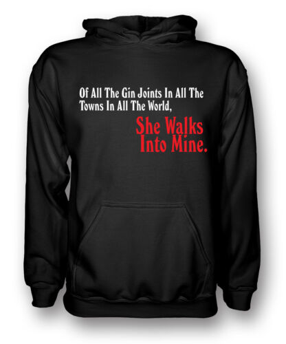 Mens Hoodie All The Gin Joints Bogart Casablanca