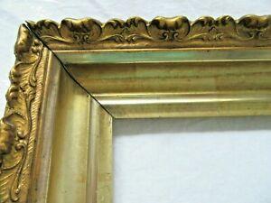 SM-Antique-Fit-6X-8-034-Lemon-Gold-Gilt-Picture-Frame-Wood-Gesso-Fine-Art-MINIATURE