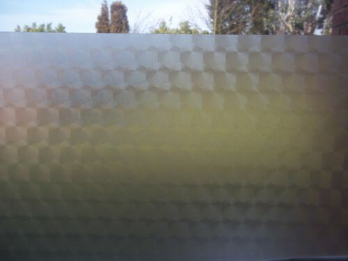 FROSTED DECO HEX GLASS PRIVACY SCREEN STICKY BACK PLASTIC SELF ADHSVE VINYL FILM