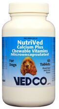 NutriVed Calcium Plus Chewable Vitamins for Dogs 60 Tablets