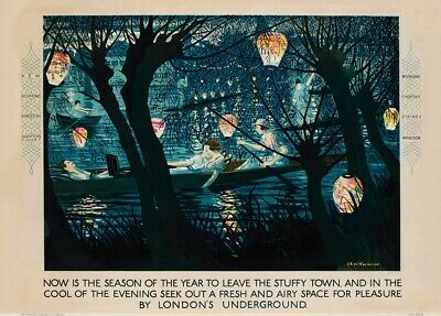 Now is the Season English Travel London Underground Art Deco Poster 1925