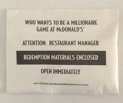 Who Wants To Be A Millionaire 2001 Mcdonalds Translite 14x14 Mint Sign