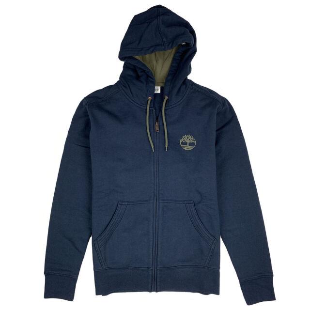 Timberland Men's TBL Logo Full Zip Hooded Sweatshirt A1O1L