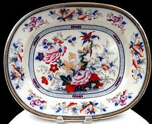 T-Till-amp-Son-Inglaterra-Shanghae-Floral-amp-Pajaro-LG-Oval-15-1-9cm-Plato