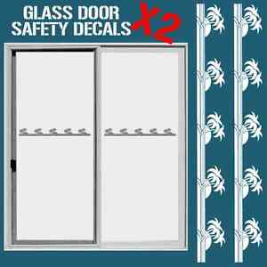Image Is Loading GLASS DOOR HAZARD PROTECTION DECAL STICKER SET SAFETY