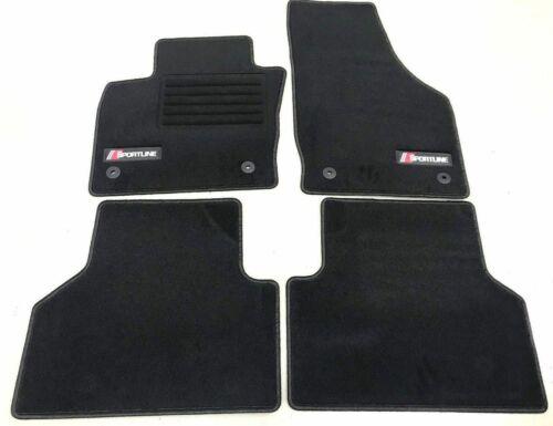 06//2011 mit Sportline LOGO **Premium** Fußmatten Audi Q3  Velours Automatten ab
