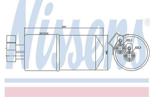 NISSENS Filtro deshidratante, aire acondicionado RENAULT MEGANE SC?NIC 95436