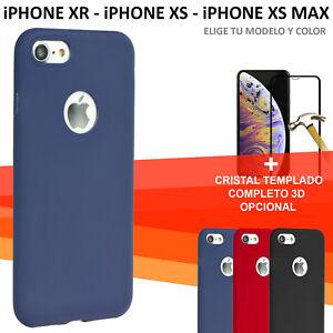 Pack-Funda-silicona-suave-roja-negra-o-azul-cristal-templado-IPHONE-XR-XS-o-MAX