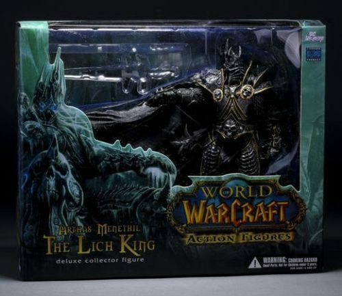 World of WARCRAFT WOW ARTHAS MENETHIL LICH KING DELUXE ACTION FIGURES STATUE TOY