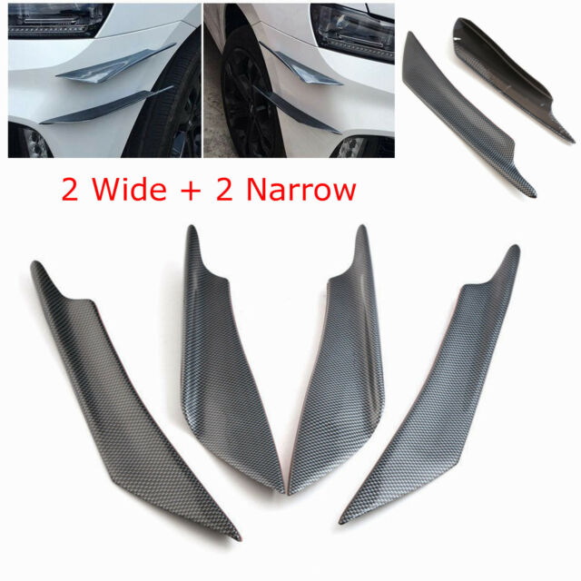 Carbon Fiber Car Front Bumper Fins Lip Spoiler Canards 4pcs Universal Front Bumper Spoiler Lip