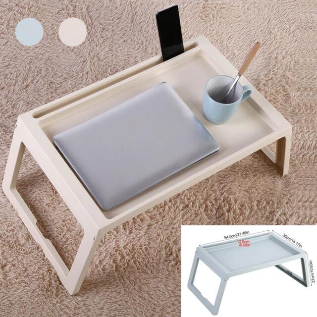 Frühstückstablett Betttablett Serviertablett Bett Tisch Laptoptisch klappbar