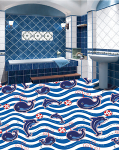 3D Water Whale 543 Floor WallPaper Murals Wall Print 5D AJ WALLPAPER UK Lemon