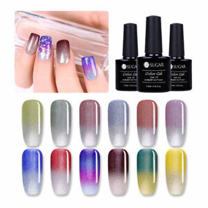 7-5ml-UR-SUGAR-UV-Gel-Nail-Polish-Thermal-Glitter-Color-changing-Manicure-DIY