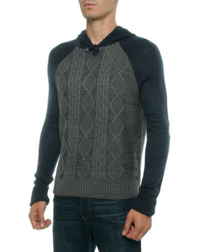 Mens Tokyo Tigers Over Head Sweatshirt Aztec Print Knitted Hoodie CRANTOCK