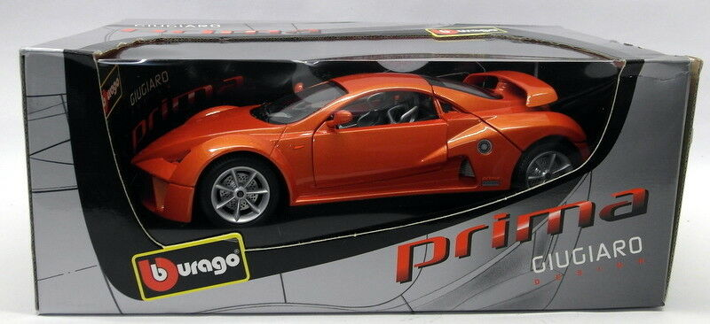Burago 1 18 Scale Diecast - 33130 Giugiaro Design Prima Orange Modell voiture