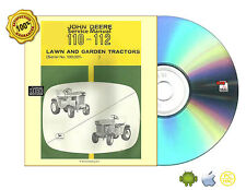 John Deere Model 110 and 112 Lawn and Garden Tractors Service Manual SM2059 CDRM