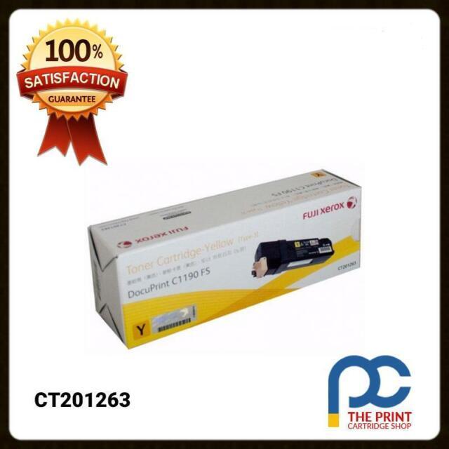 New & Original Fuji Xerox CT201263 Yellow Toner Cartridge C1190 FS C1190FS