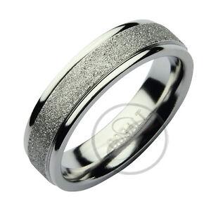 Cobalt Wedding Ring Sparkle Centre Polished 4mm 6mm Cobalt
