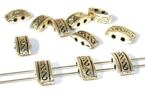 5 Stück #U52 Beads Metallperlen 2 Loch Verbinder Tibet Silber