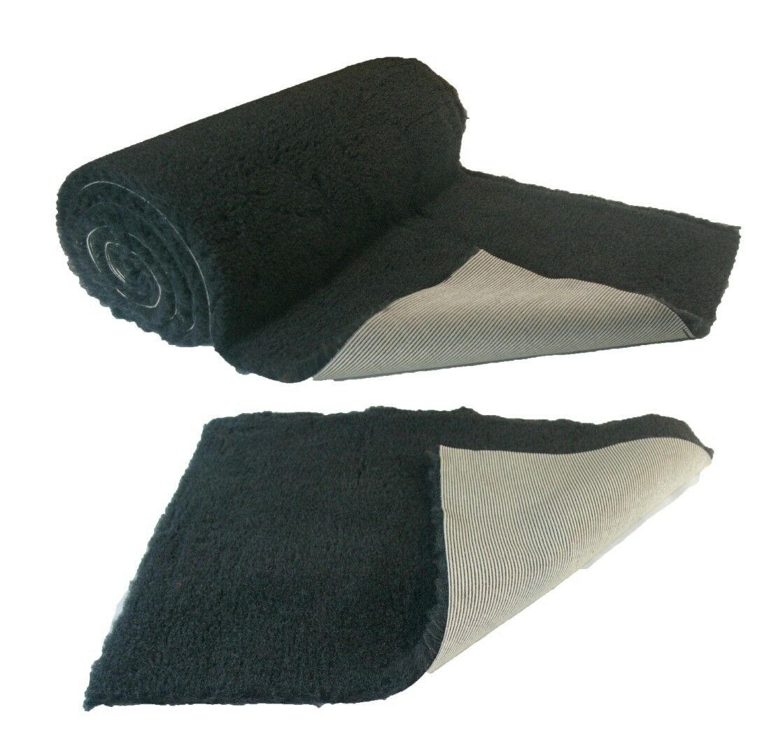 Charcoal Plain NON-SLIP Vet Bedding Fleece for Whelping dogs, puppies and Senior