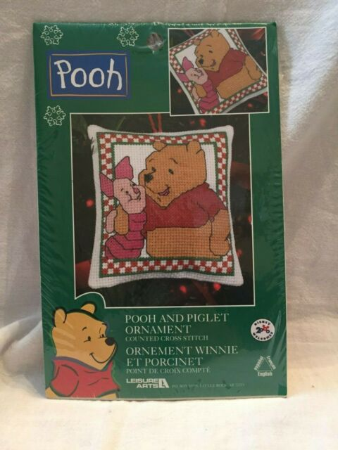 Pooh and Piglet Ornament Counted Cross Stitch