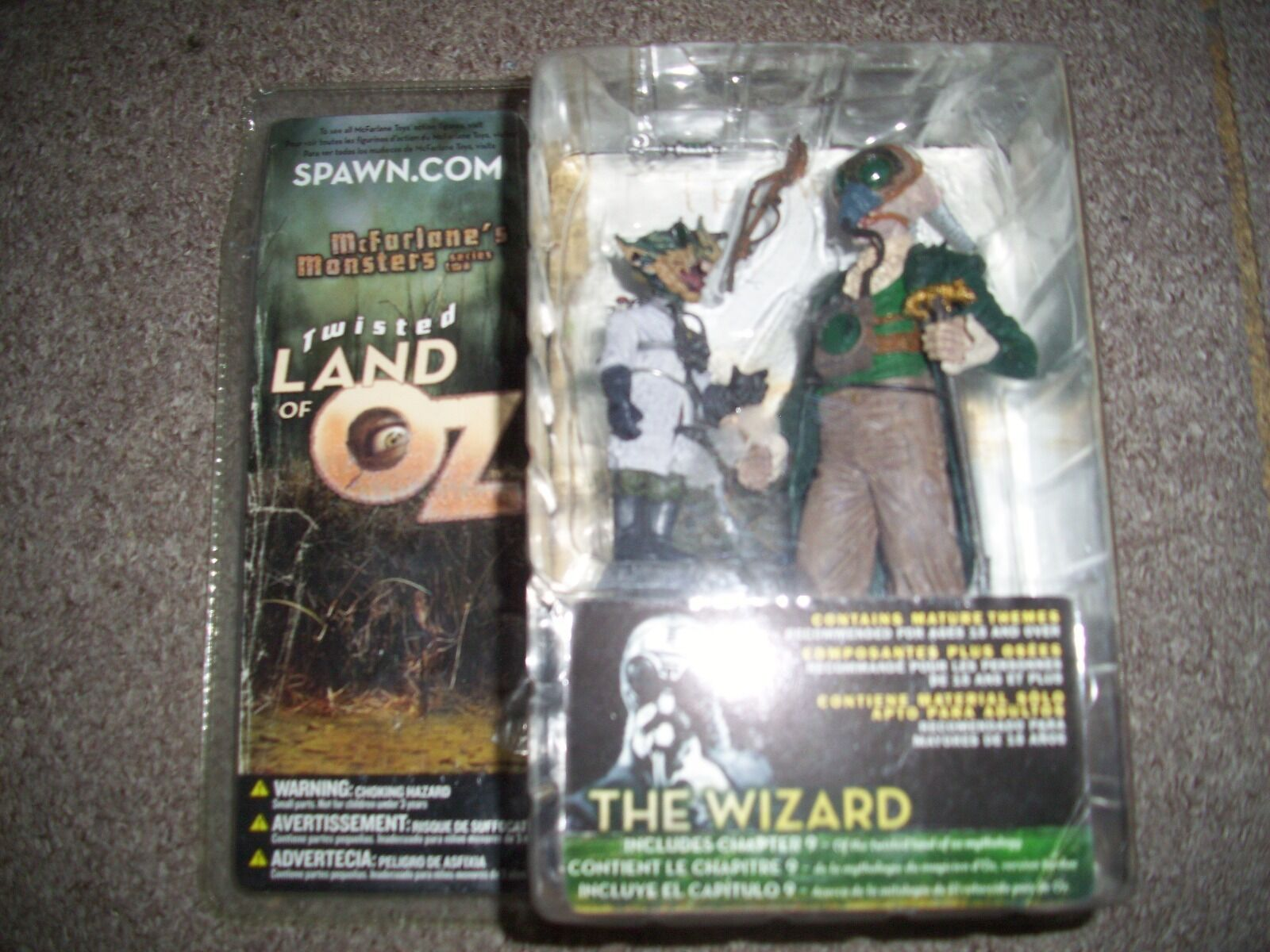 Mcfarlane twisted land of oz the wizard figure. still sealed