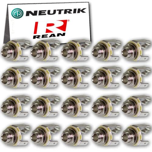 "20-Pack Neutrik REAN 1//4/"" TS Mono Female Jack NYS229 Chassis Panel Mount 6.35"
