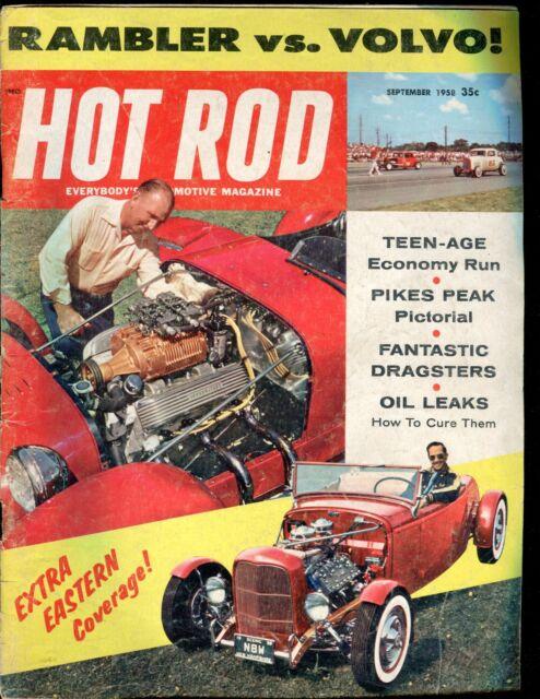 Hot Rod Magazine September 1958 Rambler Volvo VG No ML 011617jhe