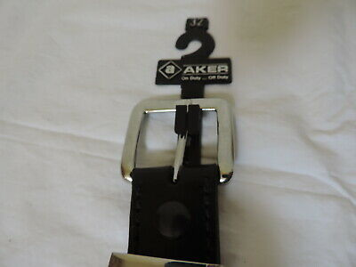 Size 36 Aker Leather B21-BP-36 Men/'s Plain Black Conceal Carry Gun Belt