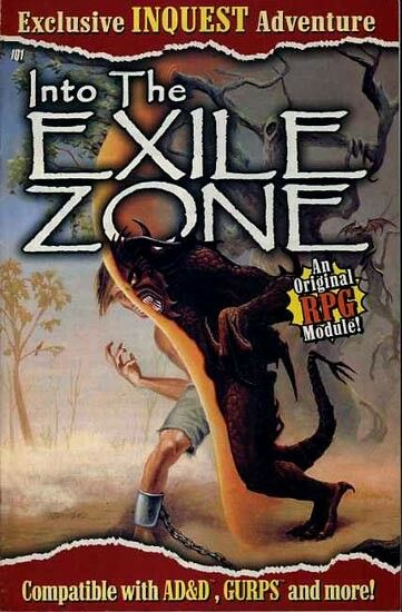 IQ1 INTO THE EXILE ZONE EXC+  INQUEST Rare Adventure Module D&D Dungeons Dragons