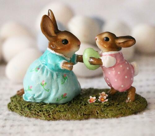 Wee Forest Folk Bunny B-31a Come to Bunny! Girl