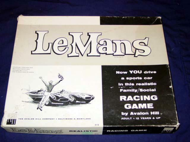 Avalon Hill 1961 - LeMans - Realistic Grand Prix Auto Racing Game - Classic