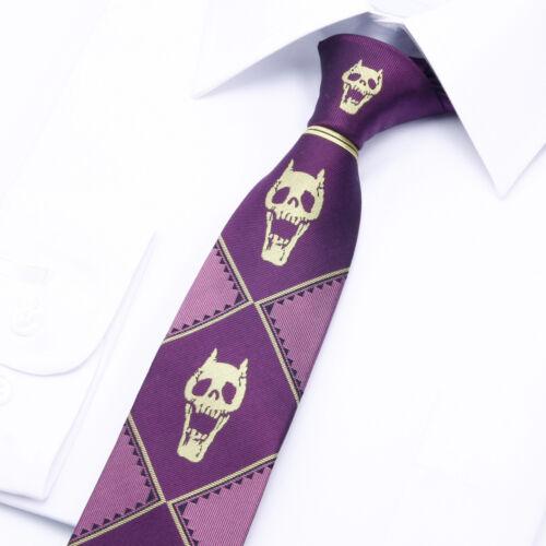JoJo/'s Bizarre Adventure KILLER QUEEN Kira Yoshikage Cosplay Silk Tie 7cm